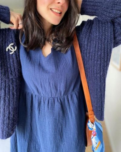 EN LIGNE EN LIGNE EN LIGNE !  La nouvelle capsule d'une Virée Printanière est disponible sur lovieandco.com.  Vous aviez adoré notre robe Bertille bleu marine, portée ici par la jolie @savagebird; bonne nouvelle, elle est maintenant disponible dans un nouveau coloris !  On vous laisse aller voir ça ❤️ . . . #LOVIEandco #viréeprintanière #nouvellecollection #printempsété2021 #springsummer21 #printempsete #collectionprintemps #nouveautés #blogueusemode